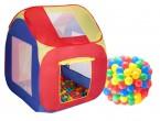 Stan domeček s plastovými míčky